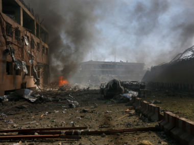 File image of the destruction caused by the Kabul blast on 31 May. Reuters