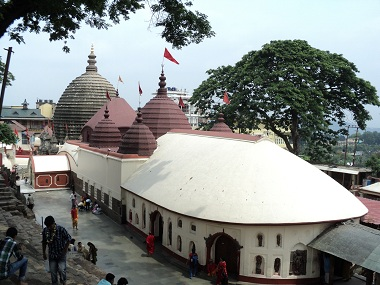 Over a million pilgrims will visit the Kamakhya Temple in July. Image courtesy: Wikimedia Commons