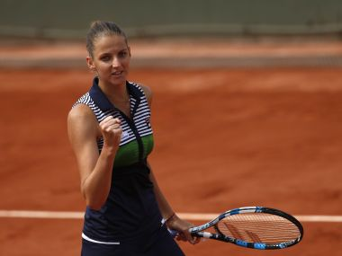 Karolina Pliskova celebrates her win over Carina Witthoeft at French Open. AP