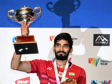Kidambi Srikanth beat reigning world champion Chen Long to win Australia Open Superseries title. Twitter/ @BAI_Media