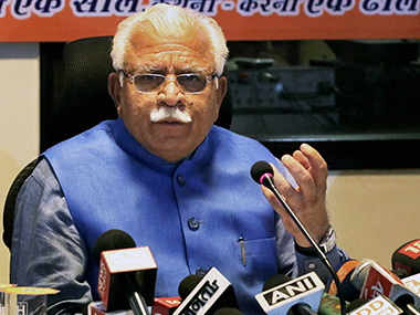 File image of Manohar Lal Khattar. PTI