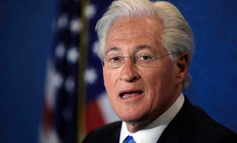 Marc Kasowitz personal attorney of President Donald Trump makes a statement at the National Press Club, following the congressional testimony of former FBI Director James Comey in Washington. AP