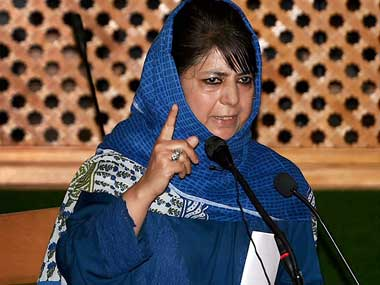 Jammu and Kashmir Chief Minister Mehbooba Mufti addressing Special Session of the state Assembly in Srinagar. PTI