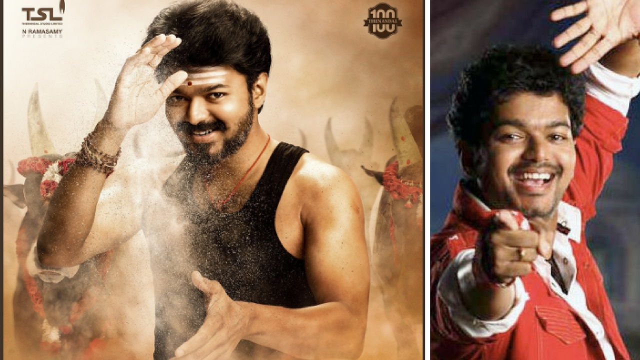 Mersal, Vijay's new film, first-look poster Image via Twitter