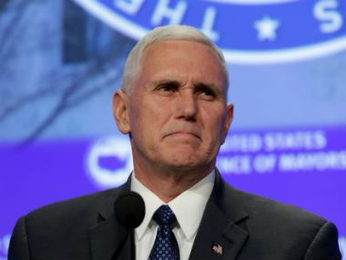 US vice-president Mike Pence. Reuters