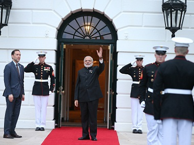 The trip has lacked the fanfare and hype of Narendra Modi's previous visits to Washington. AP