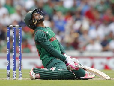 Bangladesh struggled to score in the death overs leading to their downfall. AFP