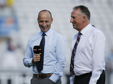 File image of England's Nasser Hussain and Ian Botham. Reuters