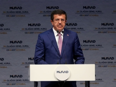 File image of Turkish economy minister Nihat Zeybekci. Getty Images