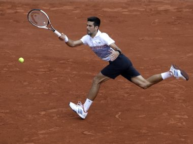 Serbia's Novak Djokovic returns the ball to Argentina's Diego Schwartzman during their third round match of the French Open tennis tournament at the Roland Garros stadium, Friday, June 2, 2017 in Paris. (AP Photo/Petr David Josek)