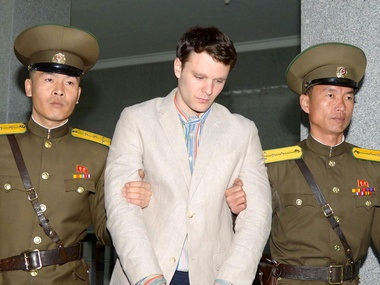 File Photo of Otto Frederick Warmbier (C), a University of Virginia student who was detained in North Korea since early January. Reuters