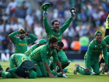 Pakistan team players bowing to the almighty after beating India in the 2017 ICC Champions Trophy final. Image Courtesy: Twitter/ @ICC