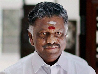 File photo of former Tamil Nadu chief minister O Panneerselvam. PTI