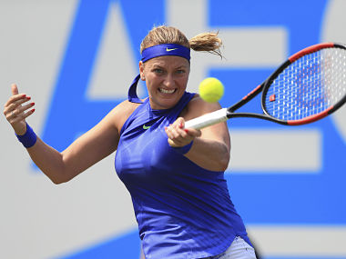 Czech Republic's Petra Kvitova during her game against Naomi Broady. AP