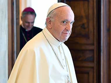 File image of Pope Francis. AP