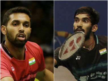 HS Prannoy and Kidambi Srikanth in action at the Indonesia Open. AP