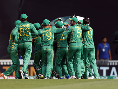 Pakistan celebrate winning the ICC Champions Trophy. Reuters.
