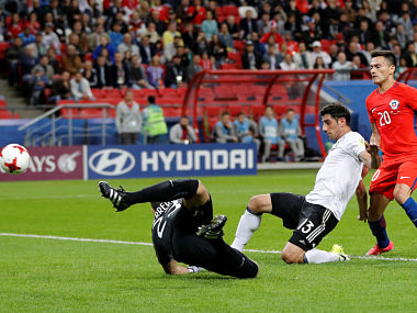 Soccer Football - Germany v Chile - FIFA Confederations Cup Russia 2017 - Group B - Kazan Arena, Kazan, Russia - June 22, 2017 Germany's Lars Stindl scores their first goal REUTERS/Darren Staples - RTS1898L