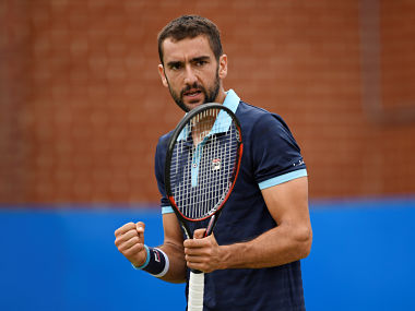 Croatia's Marin Cilic celebrates during his quarter final match against USA's Donald Young. Reuters