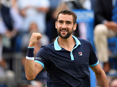 Tennis - Aegon Championships - Queen's Club, London, Britain - June 24, 2017 Croatia's Marin Cilic celebrates after winning his match against Luxembourg's Gilles Muller during the semi finals Action Images via Reuters/Tony O'Brien - RTS18H0P