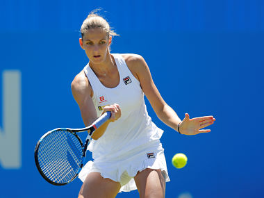 Tennis - WTA Premier - Aegon International - Devonshire Park Lawn Tennis Club, Eastbourne, Britain - June 26, 2017 Czech Republic's Karolina Pliskova in action during the first round against USA's Alison Riske Action Images via Reuters/Matthew Childs - RTS18OFJ