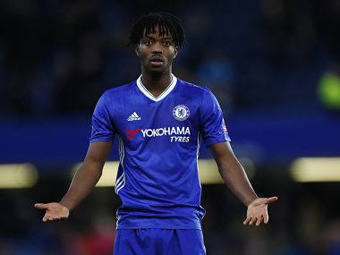 """Britain Football Soccer - Chelsea v Brentford - FA Cup Fourth Round - Stamford Bridge - 16/17 - 28/1/17 Chelsea's Nathaniel Chalobah Reuters / Eddie Keogh EDITORIAL USE ONLY. No use with unauthorized audio, video, data, fixture lists, club/league logos or """"live"""" services. Online in-match use limited to 45 images, no video emulation. No use in betting, games or single club/league/player publications. Please contact your account representative for further details. - RTSXX38"""