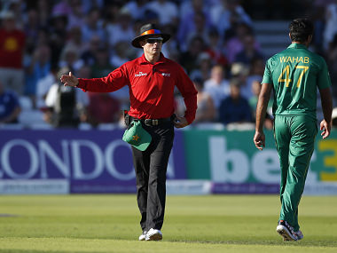File image of Umpire Richard Kettleborough. Reuters