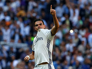 File image of Real Madrid's Pepe. REUTERS