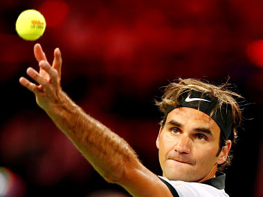 Tennis - Match for Africa 3 - Federer v Murray - Zurich, Switzerland - 10/04/2017 - Switzerland's Roger Federer serves the ball during the Match for Africa 3 benefit tennis match against Andy Murray of Britain. REUTERS/Arnd Wiegmann - RTX34ZJS