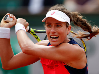 Tennis - French Open - Roland Garros, Paris, France - 30/5/17 Great Britain's Johanna Konta in action during her first round match against Taiwans's Hsieh Su-wei Reuters / Christian Hartmann - RTX387OB
