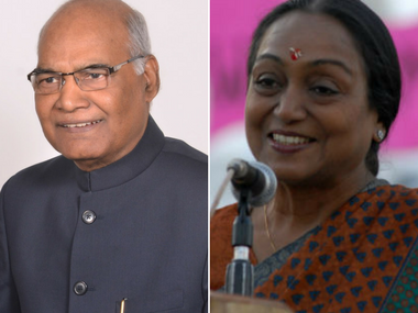 File images of Ram Nath Kovind and Meira Kumar. PTI