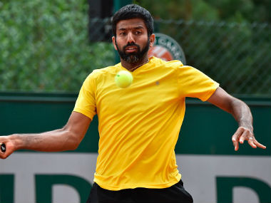 Rohan Bopanna in action at the French Open. Getty Images