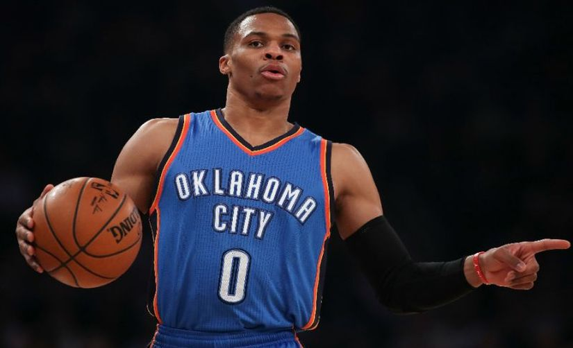 Russell Westbrook averaged a triple double for the entire regular season. AFP