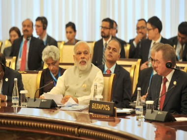 Prime Minister Narendra Modi at SCO summit 2016. Twitter/MIB_India