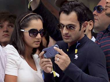 File image of Shoaib Malik and Sania Mirza. PTI