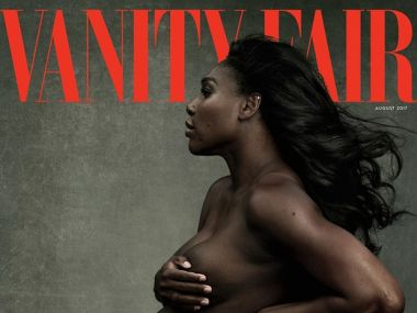 Serena Williams on the Vanity Fair cover. Image courtesy: Twitter/@serenawilliams