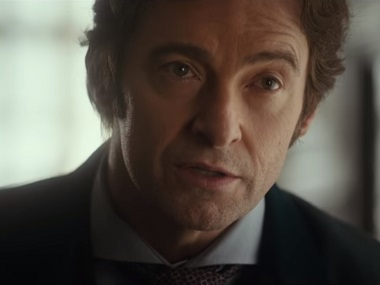 Hugh Jackman in a still from the trailer of The Greatest Showman. Youtube screengrab
