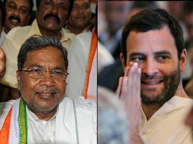 File image of Siddaramiah and Rahul Gandhi
