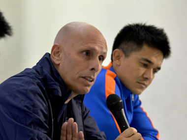 Fie image of Indian football coach Stephen Constantine. AFP