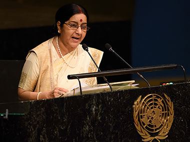 file image of external affairs minister Sushma Swaraj. AFP