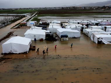 A refugee camp in Lebanon. AP