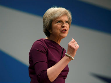 File image of Britain's prime minister Theresa May. Reuters