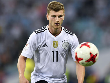 Germany's Timo Werner during Confederations Cup match against Cameroon. AP
