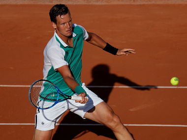 Tomas Berdych during his French Open first round match. Reuters