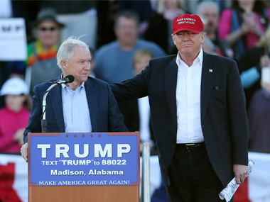 File image of Donald Trump and Jeff Sessions