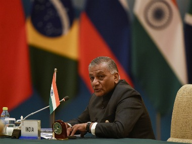 Minister of State for External Affairs VK Singh attends the BRICS Foreign Ministers meeting in Beijing. Reuters