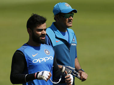 File image of India's Virat Kohli and coach Anil Kumble. Reuters