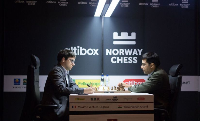 Viswanathan Anand seemed comfortable and was never in any big trouble during the 44-move-long battle. Image courtesy: official website