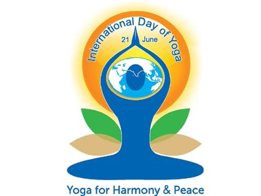 The official Yoga Day logo. Image courtesy Twitter/@MEAInd