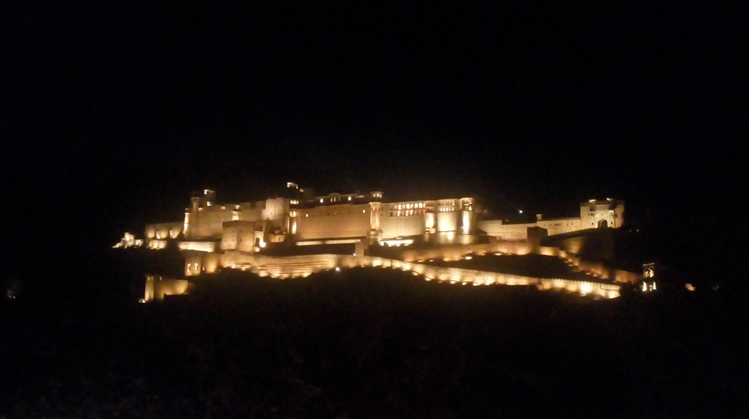 The Amer Fort lit up during the light and sound show.